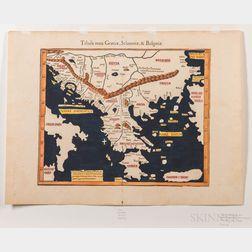 Greece, Slavonia and Bulgaria. Martin Waldseemüller (c. 1470-1520) Tabula Noua Graeciae, Sclauoniae, & Bulgariae.