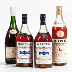 Mixed Cognac, 4 4/5 quart bottles 3 oc)