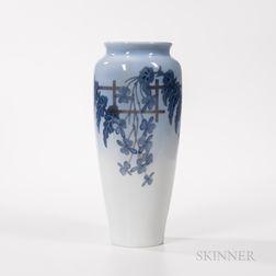 """Jenny Meyer (Danish, 1866-1927) """"Wisteria"""" Vase for Royal Copenhagen"""
