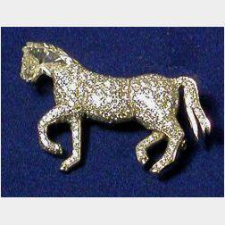 Platinum and Diamond Pin