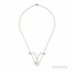 "Platinum and Diamond ""Lace Sunburst"" Necklace, Tiffany & Co."