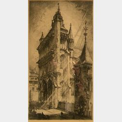 Robert Fulton Logan (Canadian, 1899-1959)      Notre Dame, Dijon
