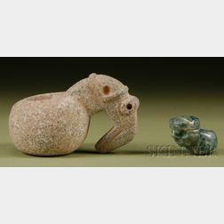 Two Pre-Columbian Mace Heads