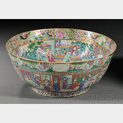 Rose Mandarin Porcelain Punch Bowl