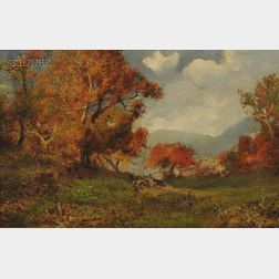 William M. Hart (American, 1823-1894)    Golden Autumn