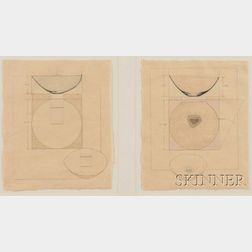 Richard DeVore  (1933-2006)      Two Renderings for Pottery Vessels