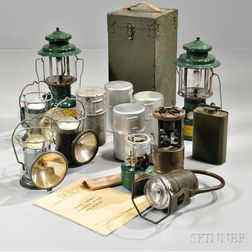 Group of WWII Lanterns and Stoves