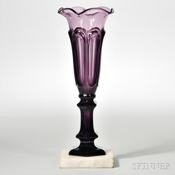 Amethyst Pressed Loop Pattern Vase