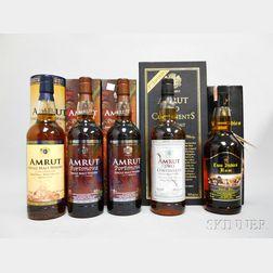 Mixed Amrut, 5 750ml bottles