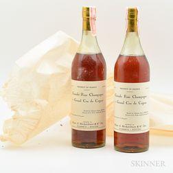 Domaine de la Voute Grande Fine Champagne Cognac 1er Grand Cru de Cognac, 2 4/5 quart bottles