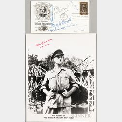 Guinness, Alec (1914-2000) Signed Photograph and Shakespeare First Day Cover Signed by Six British Shakespearean Actors.