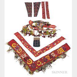 Group of Uzbek Embroideries