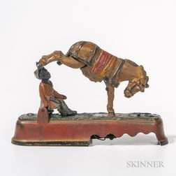 "Cast Iron Mechanical ""Always Did 'Spise a Mule"" Bank"