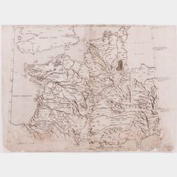 Western Europe [from] Claudius Ptholomeus Alexandrinus's Cosmographia.