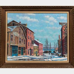 Louis Sylvia (American, 1911-1987)      Centre St. New Bedford