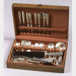 "Towle Sterling ""Rambler Rose"" Flatware Service for Eight"