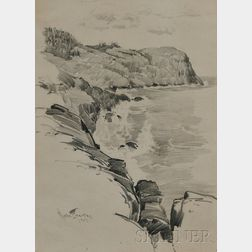 Charles Chase Emerson (American, 1874-1922)      Lot of Two Framed Drawings: Charles River - 1902