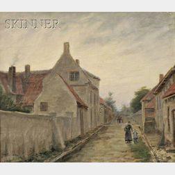 Lee Lufkin Kaula (American, 1865-1957)      Street in Sluis, Holland
