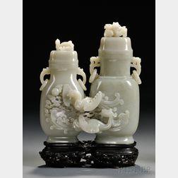 Two Jade Bottles