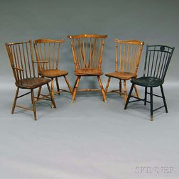 Five Assorted Windsor Chairs