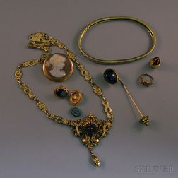 Small Group of Vintage and Antique Jewelry