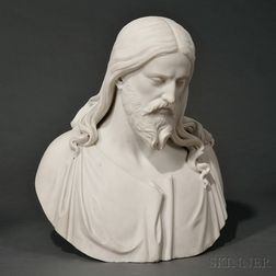 White Marble Bust of Jesus Christ