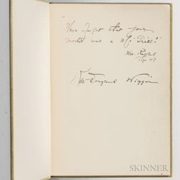 Wiggin, Kate Douglas (1856-1923) The Birds' Christmas Carol  , Signed Presentation Copy.