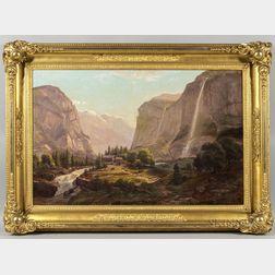 Ferdinand (Joachim) Reichardt (New York/California/Denmark, 1819-1895)      Alpine and Mountain Scene