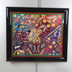Framed Peruvian Embroidery