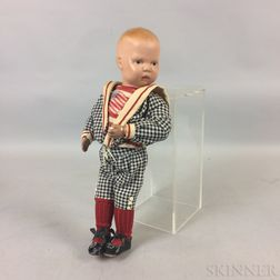 All-Wood Schoenhut Toddler Boy Doll