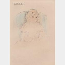 Mary Cassatt (American, 1844-1926)      Sara Smiling