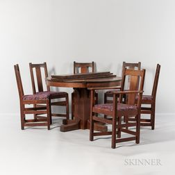 "Limbert ""Model 466"" Dining Table and Six ""Model 1721 1/2"" Side Chairs"