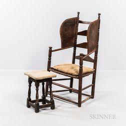 Slat-back Make-do Easy Chair