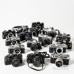 Group of Various 35mm Camera Bodies