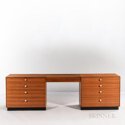 Two George Nelson (1908-1986) for Herman Miller Thin Edge Chests with Vanity