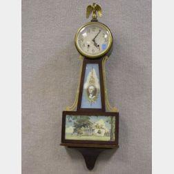 Plymouth Federal-style George Washington Banjo Timepiece.
