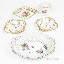 Five Porcelain Dishes