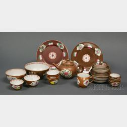 Approximately Sixteen Pieces of Chinese Export Porcelain Batavia Ware