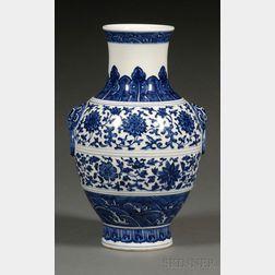 Blue and White Hu