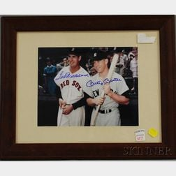 Ted Williams and Mickey Mantle Autographed Photograph