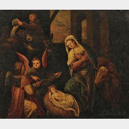 Continental School, 19th Century      Nativity Scene in the 16th Century Northern Italian Style
