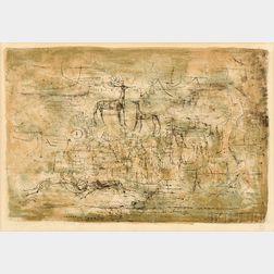 Zao Wou-Ki (Chinese/French, 1921-2013)      Les cerfs