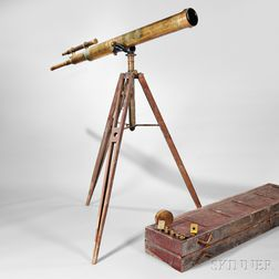 Gundlach Optical Co. 5 1/2-inch Brass Refractor Telescope
