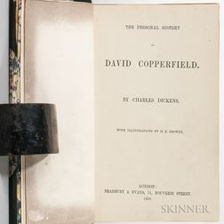 Dickens, Charles (1812-1870) The Personal History of David Copperfield  , with Hand-colored Illustrations.