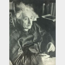After Lotte Jacobi (American, 1896-1990)      Albert Einstein at His Home in Princeton, New Jersey