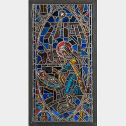 Burnham Studios Nativity Stained Glass Window