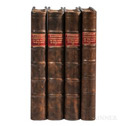 Blackstone, Sir William (1723-1780) Commentaries on the Laws of England.