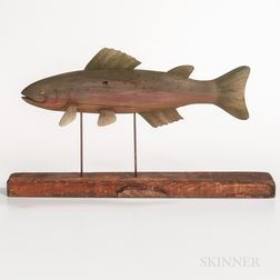 Carved and Painted Trout
