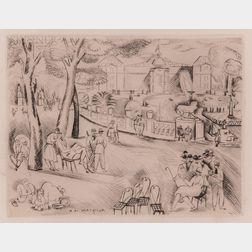 Henry de Waroquier (French, 1881-1970)      Jardin du Luxembourg