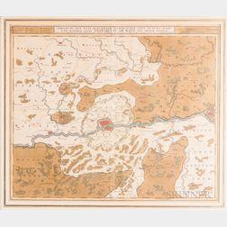 Nicolaes Visscher (Dutch, 1618-1709)      Map of the Area of Frankfurt am Main